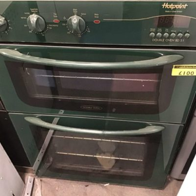 Green Hotpoint 900mm integrated double oven